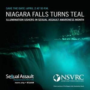 Niagara Falls will turn teal to commemorate Sexual Assault AwarenessMonth